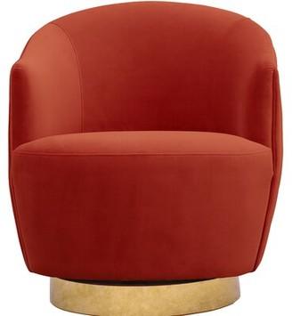 Rosdorf Park Adali Channel Tufted Swivel Barrel Chair