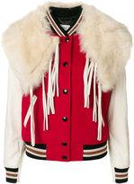 Coach shawl detail varsity jacket