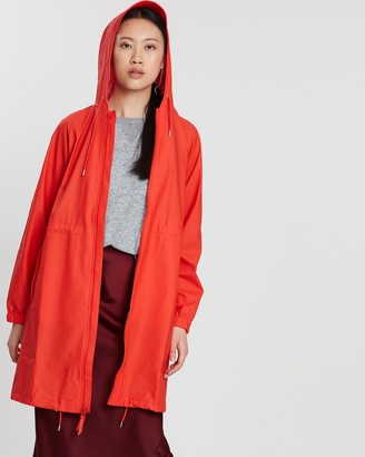 Rains Women's Red Coats - Long W Jacket - Size One Size, XXS/XS at The Iconic