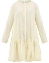Merlette New York Martel Tiered Cotton-lawn Shirtdress - Womens - Light Yellow