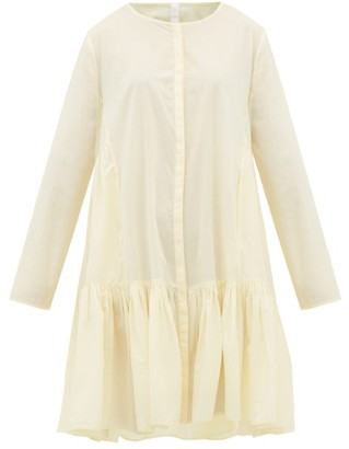 Merlette New York Martel Tiered Cotton-lawn Shirt Dress - Light Yellow