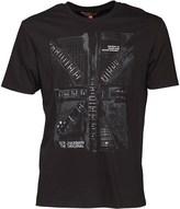 Ben Sherman Short Sleeve Guitar Flag T-Shirt Black