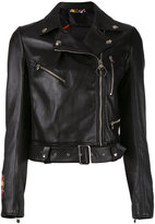 Philipp Plein Pekino biker jacket - women - Lamb Skin/Viscose - S