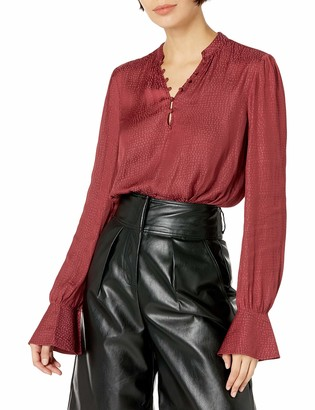 Paige Women's Lizzy Long Sleeve V Neck Flared Cuff Blouse