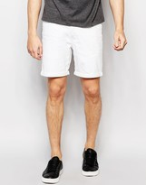 Only & Sons Denim Shorts In Slim Fit With Turn Up
