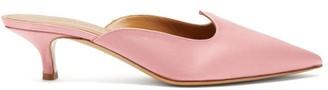 Le Monde Beryl - Venetian Satin Mules - Womens - Light Pink