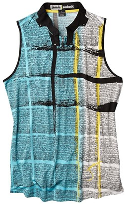 Jamie Sadock Dream Print Sleeveless Top (Fiji) Women's Clothing