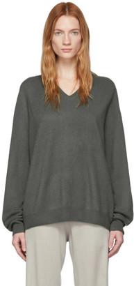 Frenckenberger Grey Cashmere Boyfriend Sweater