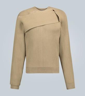 Bottega Veneta Asymmetrical ribbed sweater
