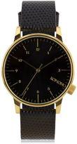 KOMONO Winston Monte Carlo Black Leather Watch*