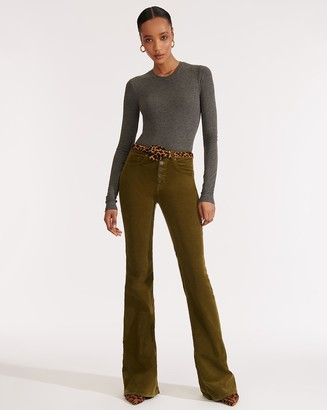 Veronica Beard Beverly High-Rise Skinny-Flare Jean