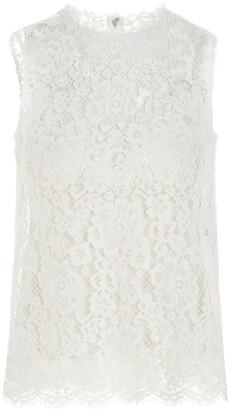 Dolce & Gabbana Lace Sleeveless Top