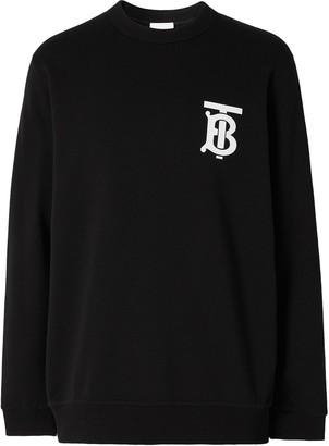 Burberry Monogram Motif Crew Neck Sweatshirt