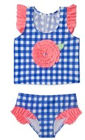 Hula Star Girl's Gingham Two-Piece Swimsuit