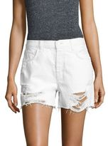 J Brand Ivy High-Rise Distressed Denim Shorts/Distract