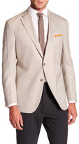 David Donahue Connor Tan Glen Plaid Notch Lapel Wool Classic Fit Sport Coat