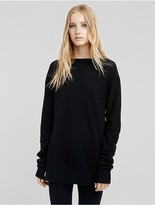 Calvin Klein Collection Boiled Cashmere Bateau Neck Tunic