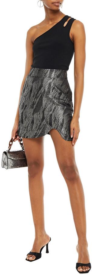 Thumbnail for your product : Ganni Metallic Jacquard Mini Skirt