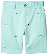 Vineyard Vines Kids Whale Embroidered Breaker Shorts (Toddler/Little Kids/Big Kids) (Sea Splash) Boy's Shorts