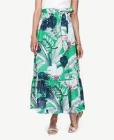 Ann Taylor Petite Palm Leaf Maxi Skirt