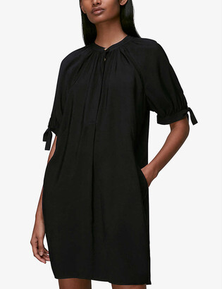 Whistles Celestine cuff-tie crepe dress
