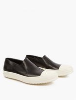 Rick Owens Black Leather Boat Shoes