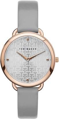 Ted Baker Hetttie Rose Goldtone Stainless Steel Leather-Strap Watch