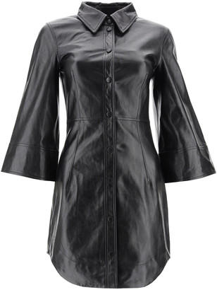 Ganni Leather Mini Dress