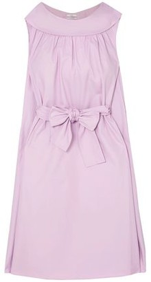 Co Bow-detailed Cotton Midi Dress