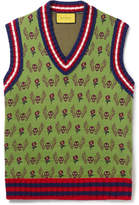 Gucci Slim-Fit Wool and Cotton-Blend Jacquard Sweater Vest