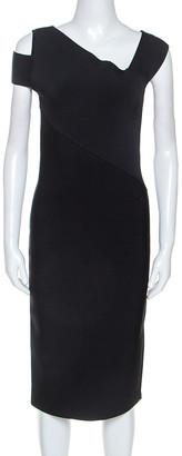 Roland Mouret Black Stretch Elsom Bodycon Dress M