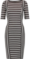 Bailey 44 Mansour Gate Ribbed Printed Jersey Dress