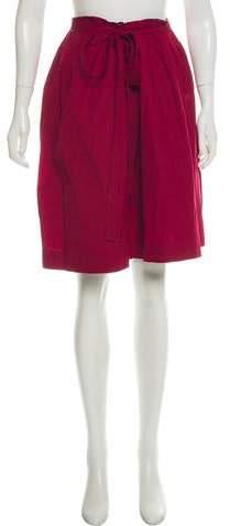 518c48c156483c Burgundy Pleated Skirt - ShopStyle