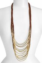 Natasha Accessories Beaded Multi-Cord Long Necklace