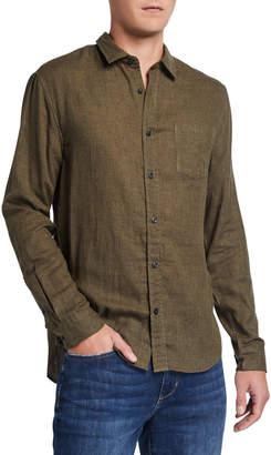 Vince Men's Double-Face Cotton Button-Front Shirt