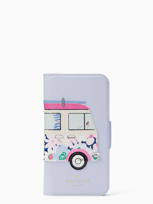 Kate Spade Surf Van Applique Folio Iphone X Case
