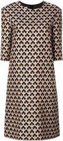 Marni Portrait print shift dress - women - Silk/Cotton - 40