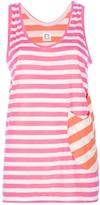 Tsumori Chisato Cats By striped vest top