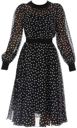 Dolce & Gabbana Polka Dot Flared Dress