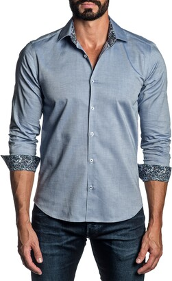 Jared Lang Regular Fit Solid Button-Up Shirt