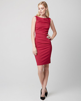 Le Château Ponte Pleated Sheath Dress