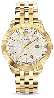 Versace Business Slim Gold Watch, 43mm