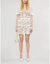 Self-Portrait Self Portrait Floral guipure lace mini dress