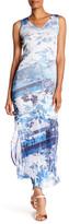 Komarov Striped Crinkled Tank Dress