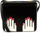 Lulu Guinness White Leather Marcie Hands Bag