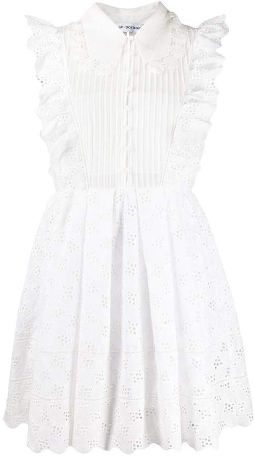 dc7c96fc9b29b Self-Portrait White Fitted Waist Dresses - ShopStyle