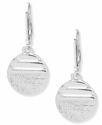 Chaps Women's Circle Button lever back Drop Earrings