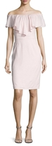 Ava & Aiden Linen Gathered Off Shoulder Sheath Dress
