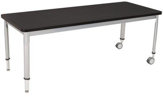 Manufactured Wood Adjustable Height Multi-Student Desk Learniture Desk Finish: Graphite Nebula