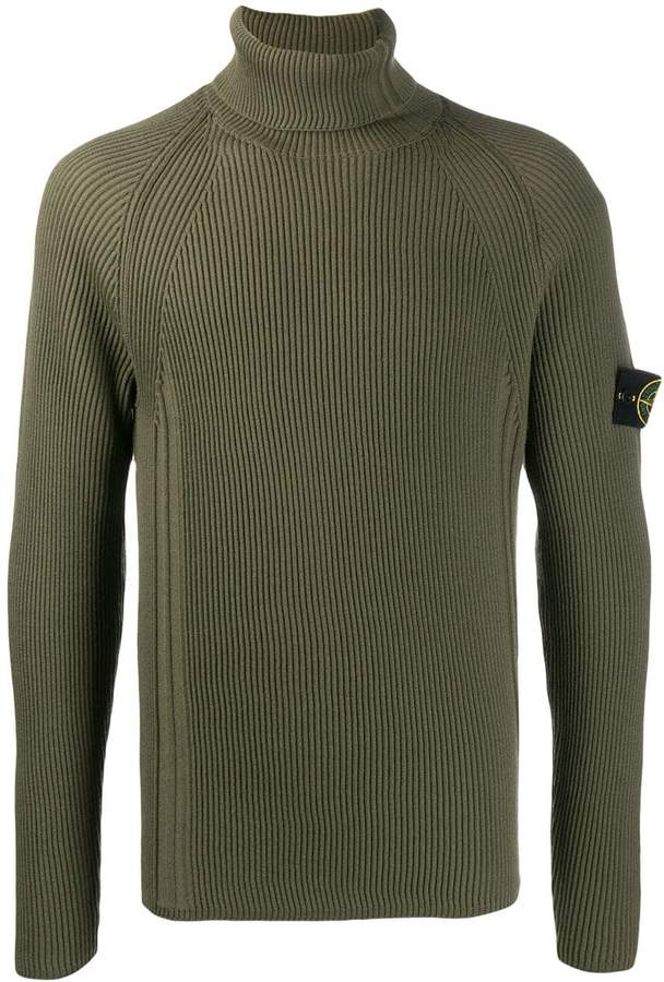 8fe5fd18610 logo ribbed roll-neck jumper